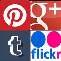 Pinterest, Google+, Tumblr, & Flickr